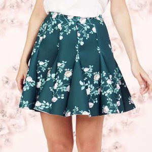 Runway Collection Floral Scuba Skirt